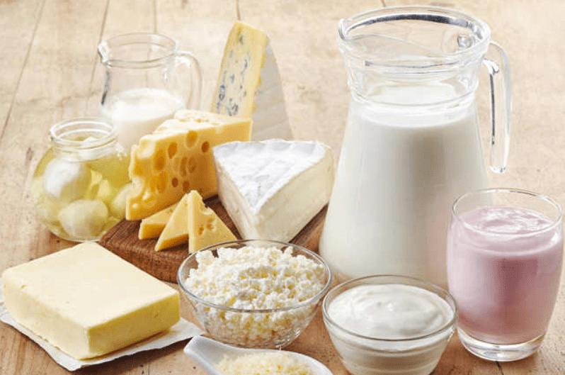 Các thực phẩm từ sữa bò