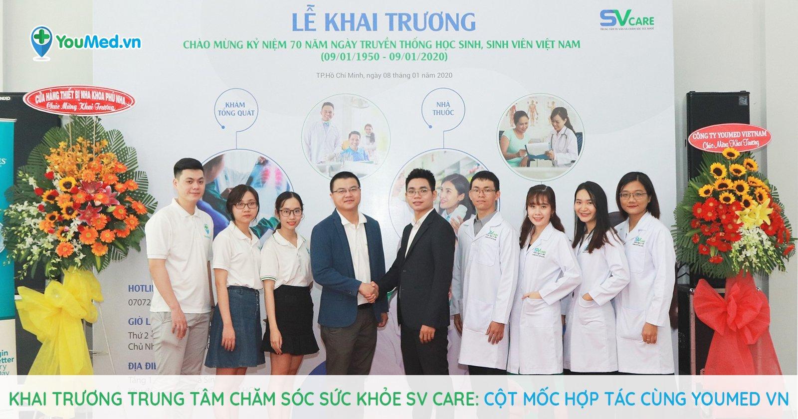 Khai trương trung tâm chăm sóc sức khỏe SV Care: Cột mốc hợp tác cùng YouMed VN